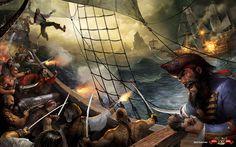 Pirate Drawings | Illustration by Svetlin Velinov , Bulgaria. Download full image here ...