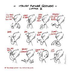 Italian hand gestures 2