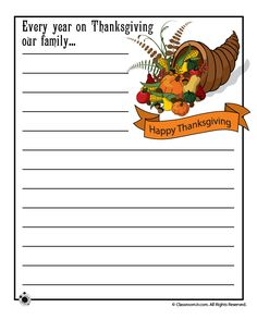 Printable Thanksgiving Day Writing Prompts thanksgiving-story-starters – Classroom Jr.