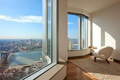 THE VIEW FROM NYC'S TALLEST RESIDENTIAL BUILDING...LOCATED IN DOWNTOWN MANHATTAN