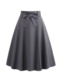 Product name: Belted Flare Skirt at SHEIN, Category: Skirts SheIn offers Belted Flare Skirt & more to fit your fashionable needs.To find out about the [good_name] at SHEIN, part of our latestSkirts ready to shop online today! Box Pleat Skirt, Pleated Skirt, Dress Skirt, Skater Skirt, Cute Skirts, A Line Skirts, Modest Skirts, Swing Rock, Grey Mini Skirt
