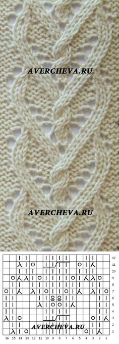 avercheva.ru heart cables openwork