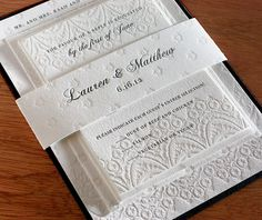 lace letterpress wedding invitation by invitations by ajalon
