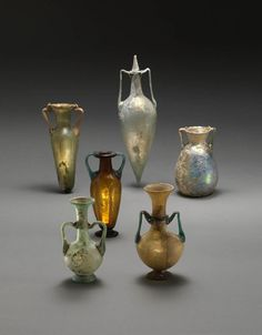 Roman glass jars, 2nd-3rd century A.D. Princeton university art museum