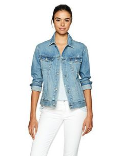 """Easy to wear relaxed fit denim jacket looks great over a dress or styled back to your favorite ag jeans       Famous Words of Inspiration...""""True love is like ghosts, which everyone talks about and few have seen.""""   Francois de La...  More details at https://jackets-lovers.bestselleroutlets.com/ladies-coats-jackets-vests/denim-jackets/product-review-for-ag-adriano-goldschmied-womens-nancy-denim-jacket/"""