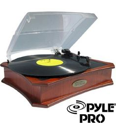 Check out the VIDEO deal of the day! Vinyl turntable with USB-to-PC recording