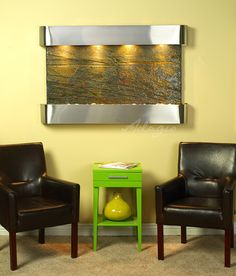 An interior fountain is ideal for the home and exemplifies grace. Were you aware placing a contemporary waterfall inside your client's home will purify the air? Its no lie.www.waterfeaturesupply.com/waterwalls/indoor-wall-water-fountains.html