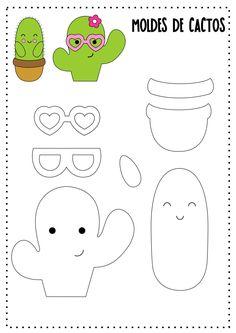FETROCLUB: development and decor from felt's photos – Cactus Easy Felt Crafts, Felt Diy, Paper Crafts, Paper Toys, Felt Templates, Applique Templates, Applique Patterns, Card Templates, Cactus Craft