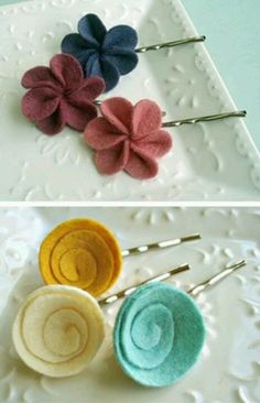 DIY lovely hair pins...