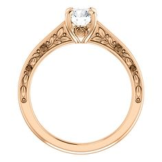 Rose gold mm Round Floral-Inspired Engagement Ring , Available in Rose,White and Yellow gold and Platinum. Floral Engagement Ring, Gemstone Engagement Rings, Solitaire Engagement, Resin Ring, Rings Online, Fine Jewelry, Wedding Rings, Rose Gold, Gemstones
