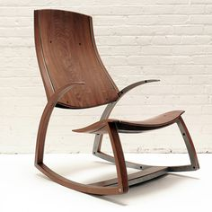 Rocking Chair No. 1 by Reed Hansuld - Walnut and steel - Modern Seating - Modern Furniture Design Furniture, Furniture Plans, Custom Furniture, Furniture Making, Chair Design, Modern Furniture, Teak Furniture, Fine Furniture, Objet Deco Design