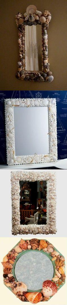 Зеркало с ракушками или зеркало в морском стиле