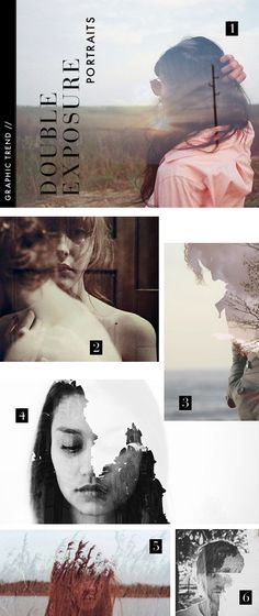 graphic design trends---double exposure, MUST try this