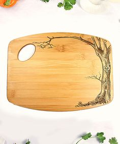 Loving this Tree Personalized Bamboo Cutting Board on #zulily! #zulilyfinds