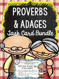What's a Proverb & Adage? It's those wonderful words of wisdom that have been passed down from generation to generation! This task card activity bundle uses the theme of grandparents to help students remember, identify and use proverbs & adages!With this Task Card Activity Bundle, Students have the Opportunity to MASTER PROVERBS & ADAGES!