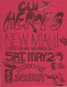 Cult Heroes at the New Miami (which is now the Old Miami)