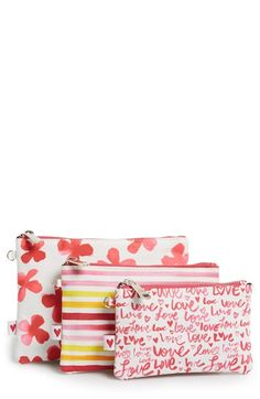 Bella J  Cosmetics Bag Trio (Nordstrom Exclusive) ($60 Value) available at #Nordstrom