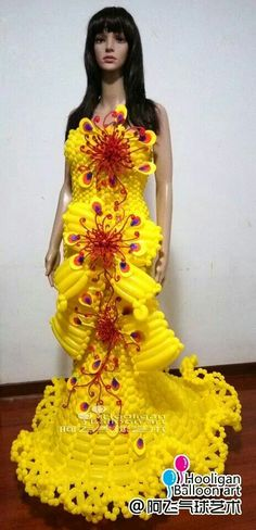 Dress with balloons