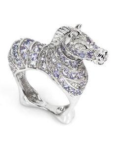 Ring Zebra mit Tansaniten - 119,95 Euro