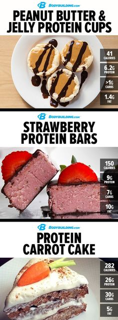 6 Sweet Nighttime Protein Treats. Make sure your last meal of the day is a tasty, muscle-building one with these sweet #recipes.