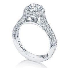 Shop online TACORI HT2550RD65 Halo 18K - White Gold Diamond Engagement Ring at Arthur's Jewelers. Free Shipping