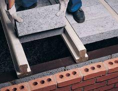 Beam and Block Floor Suppliers - Bison Precast Concrete Concrete Houses, Precast Concrete, Concrete Blocks, Rooftop Design, Garage Roof, Construction Tools, Brick Design, Attic Remodel, House Roof