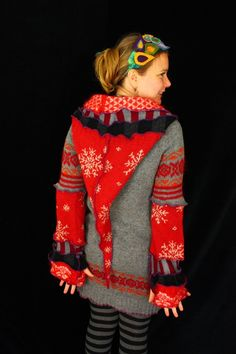 upcycled sweater scrap hoodie and more creative work...