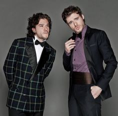Robb Stark & Jon Snow. I love absolutely everything about this picture. Also further proof that bow ties are cool.