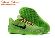 bf07b231ed8d Nike Kobe A.D. Sneakers For Men Low Green Black Authentic T5YmyXj