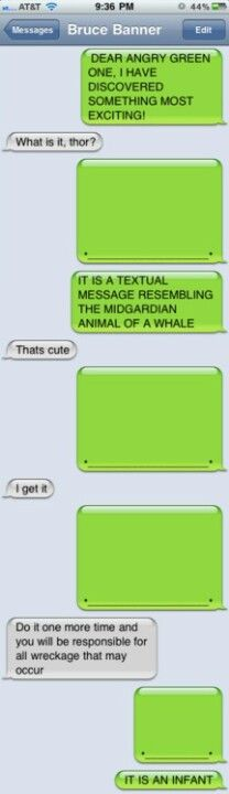 Thor texts Bruce