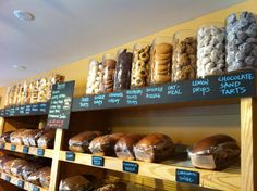 Cookie display at The Bread Basket Bakery in Saratoga Springs...