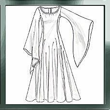 """This is one of the most popular costume silhouettes there is--the generic """"princess/angel/medieval maiden/rennaissance damsel/magical wizard/monk/every-fairy-tale-princess-in-grimms'-anthology"""" gown."""