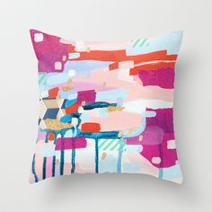 "Asking for Directions by Emily Rickard THROW PILLOW / COVER (20"" X 20"") $28.00"