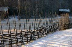 Typical Dalarna fence