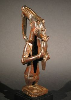 Eshu Figure w/Flute Yoruba, Nigeria African Masks, African Art, New York Galleries, African Sculptures, Man And Dog, Orisha, West Africa, Large Art, Occult