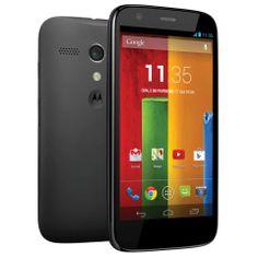 Celular Desbloqueado Moto G™ Dual Preto com Tela de 4.5'', Dual Chip, Android 4.3, Wi-Fi, 3G, Câmera 5MP e Processador Quad-Core de 1,2 GHz Snapdragon