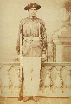 Cabo desconhecido que pertencera ao 1º Batalhão de Voluntários da Pátria, infantaria pesada (1865).