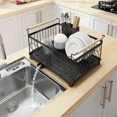 Stainless Steel Sink Dish Drying Rack Dish Cup Drainer Rack Kitchen Storage Shelf Rack Organizer Holder Drainer Shelf