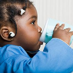 """Make the sippy cup as appealing to your toddler as possible. An easy way to do this is to use the bottle for water only and to save the good stuff for the sippy cup. """"If given the choice between having milk or juice in an unfamiliar cup and water in their favorite bottle, most kids will go for the cup."""""""