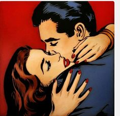 Pop Art Drawing, Art Drawings, Comic Books Art, Comic Art, Comics Vintage, Desenho Pop Art, Arte Dope, Art Love Couple, Beautiful Couple