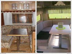 ommålning,före och efter,före- och efterbilder,husvagnsrenovering