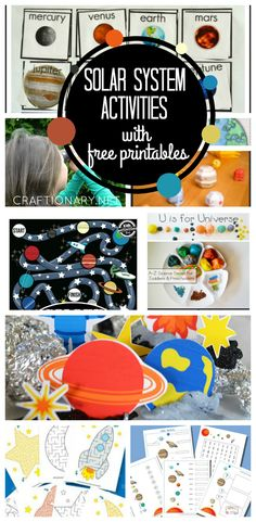 Kids and children will love these interactive learn and play Solar system Activities with free printables to make solar system projects at school and home.