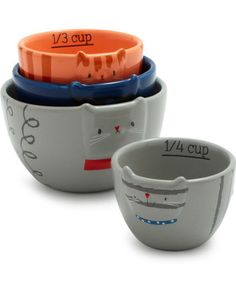 Add these cute cats to your collection of measuring cups! Get the set here: http://www.bhg.com/shop/sur-la-table-fat-cat-measuring-cups-p5112c78fe4b09eaf45cc4677.html?ma=z