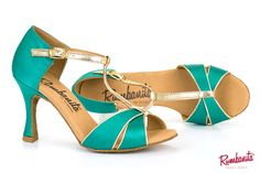 Marilyn green by Rumbanita dance shoes. Perfect for social dance like salsa, bachata, rumba, kizomba, etc... Avaliable in 2 heel sizes.  See our romantic, feminine and vintage inspired collection in www.rumbanita.com. Designed and produced in Portugal