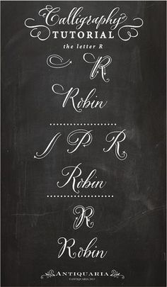 Calligraphy - the letter R