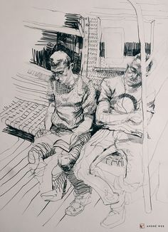 The ride home: Sketches on the subway, New York City | Urban Sketchers
