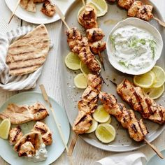 Yogurt Marinated Grilled Chicken Skewers