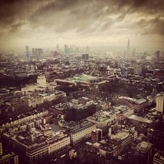 Such an angry sky over London, a view from the BT Tower via @mstafford #london