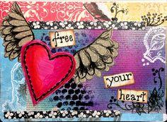 Free your heart, art journal, Atomic Venetia