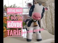 35 cm tall amigurumi calf section front and back leg preparation . Crochet Cow, Crochet Animals, Crochet Hats, Baby Knitting Patterns, Cow Pattern, And July, Amigurumi Toys, Stuffed Animal Patterns, Crochet Dolls